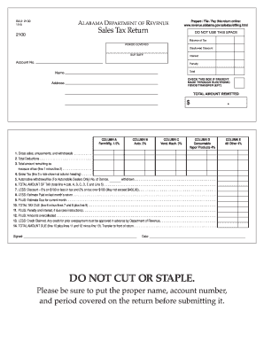 Alabama form 2100 sales tax 2016-2019 - Fill Out and Sign