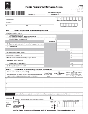 Fl Return 2016 2019 Form Fill Out And Sign Printable Pdf Template
