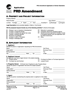 Get And Sign PRD Amendment Application &amp Grcity 2015-2021 Form