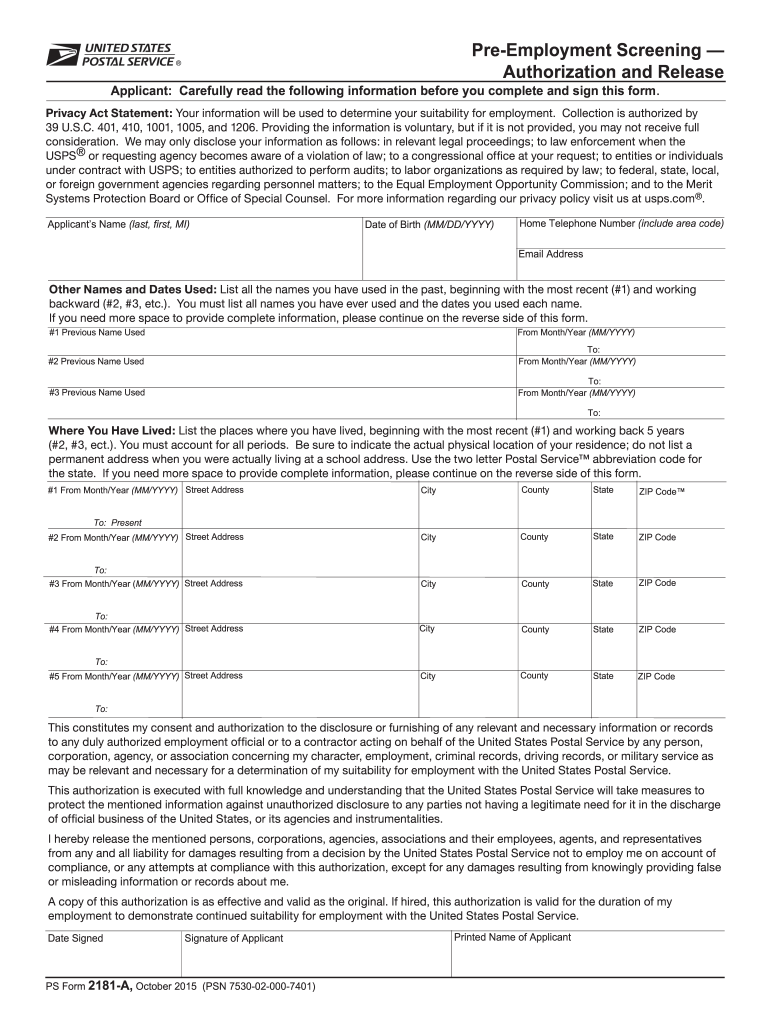 Get And Sign Fillable Form 2181a 2015-2021