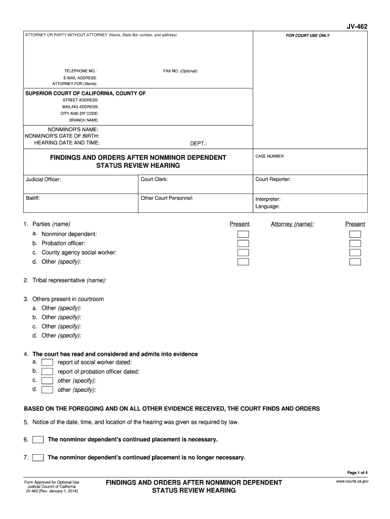 Get And Sign Jv462  Form 2014-2021