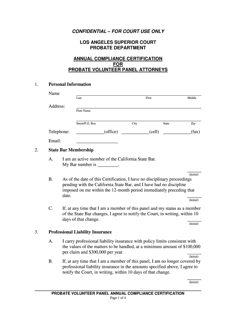 Get And Sign Confidential For Court Use Only Los Angeles Superior Court 2016-2021 Form