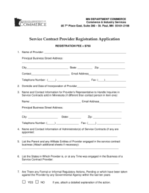 Get And Sign Service Contract Provider Registration Application - Minnesota.gov - Mn Form