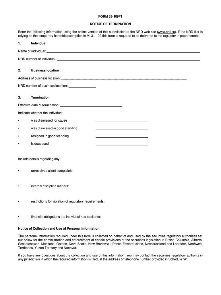 Get And Sign Form 33 109f1