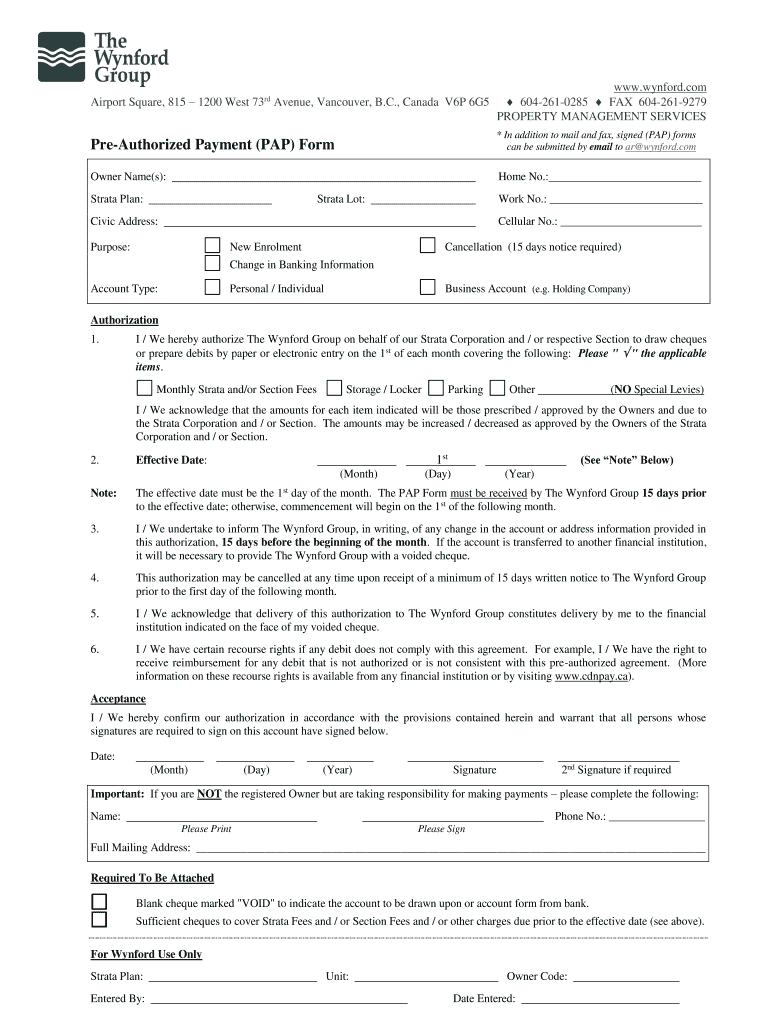 Get And Sign Wynford Strata Financial Management Form