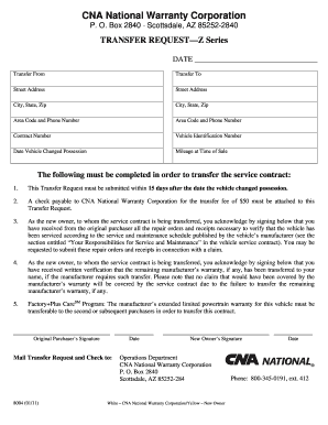 Cna National Warranty >> Cna National Form Fill Out And Sign Printable Pdf Template Signnow