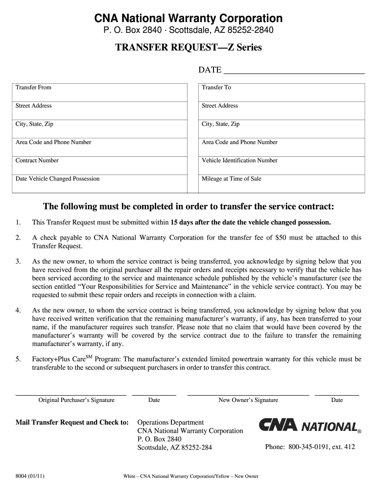 Get And Sign Cna National Cancellation Form 2011-2021