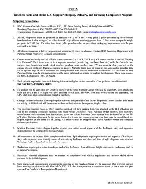 Orscheln Vendor Compliance Requirements doc form - Fill Out