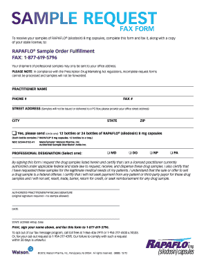 image relating to Fax Form Template titled Pattern inquire fax style - Rapaflo - Fill Out and Signal