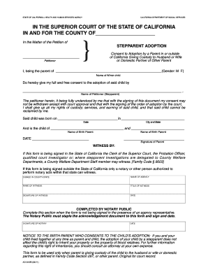 Consent To Adoption Form Fill Out And Sign Printable Pdf