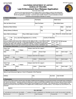 Law enforcement tx gun release form 2015-2019 - Fill Out and Sign