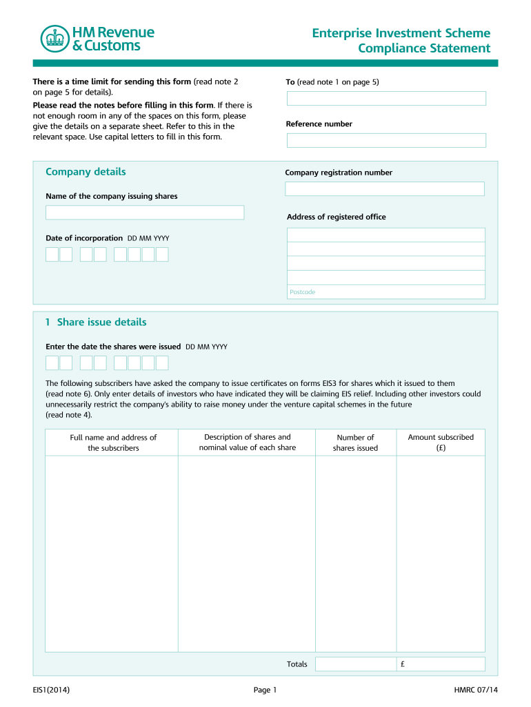 Get And Sign Eis1 Form 2014-2021
