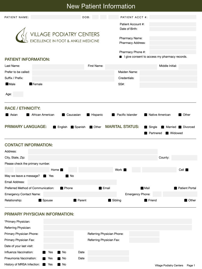 Get And Sign Podiatry Forms
