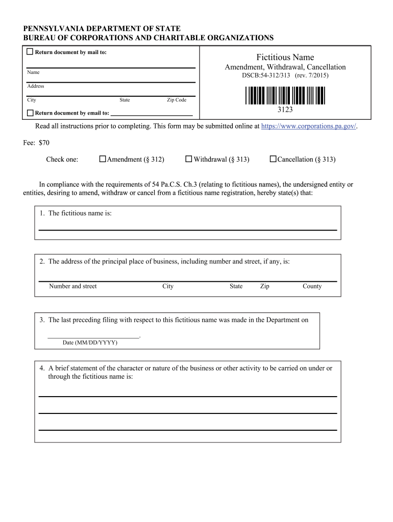 form fictitious dscb fill certificate pa template signnow filing blank printable pdffiller