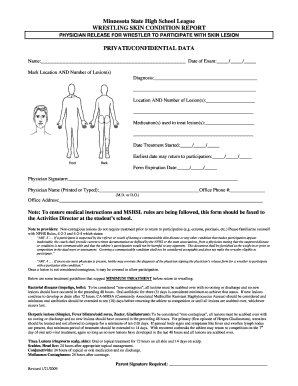 Get And Sign Skin Form 2009-2021