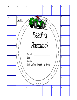 image about Race Track Printable titled Examining racetrack style - Fill Out and Signal Printable PDF