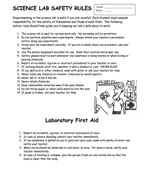 Lab safety form - Fill Out and Sign Printable PDF Template ...
