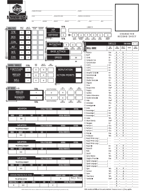 graphic regarding Printable Character Sheet named D20 ground breaking temperament sheet variety - Fill Out and Signal