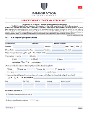 photograph regarding Printable Workers Permit called Cayman do the job allow sort - Fill Out and Indication Printable PDF