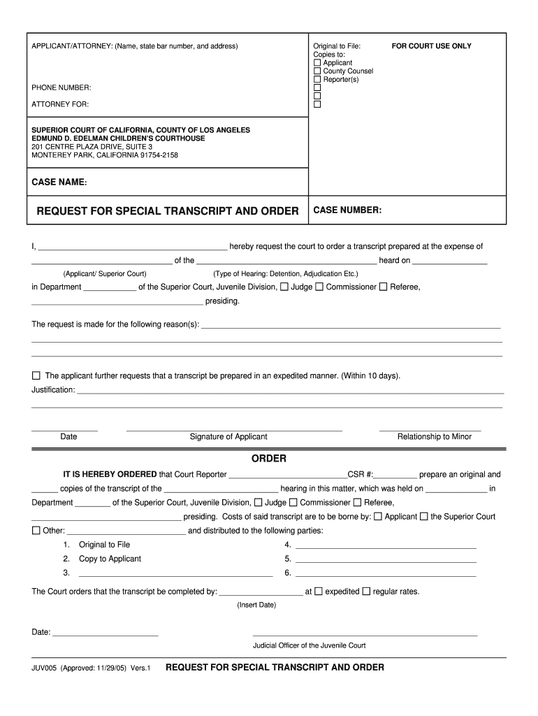 Get And Sign APPLICANTATTORNEY Name, State Bar Number, And Address Original To File Copies To Applicant County Counsel Reporters FOR 2005-2021 Form