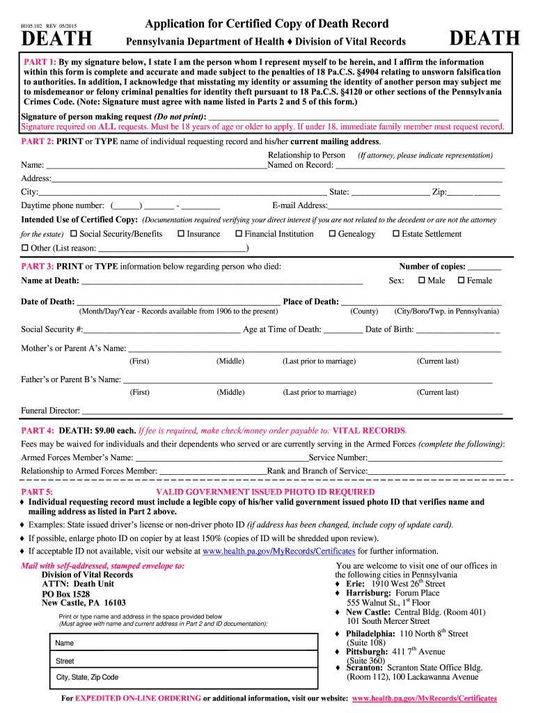 Get And Sign Pennsylvania Application Record  Form 2015-2021