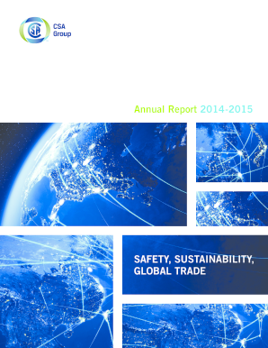 Get And Sign Annual Report 2014 2015 - CSA Group - Csagroup Form