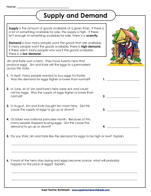 Supply and Demand - Super Teacher Worksheets ...